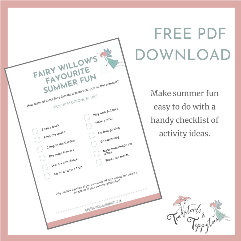 Summer Holidays Fun Activities for Children - checklist of ideas to make it easy for all parents